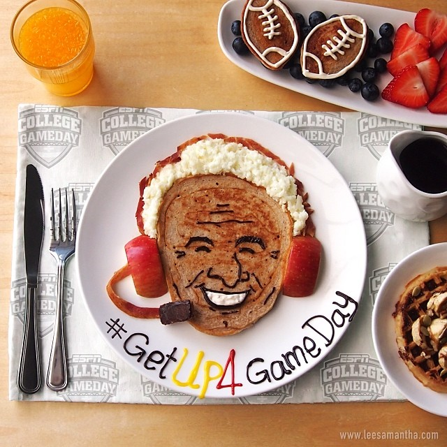 2013 -ESPN - gameday samantha food art
